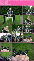 Lady-Blue Lady-Blue - Strap-On Wichserziehung in Lack Overkneestiefel - Dirty Talk Domina SM Thumbnail